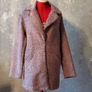 Bershka red/pink light coat size M/L